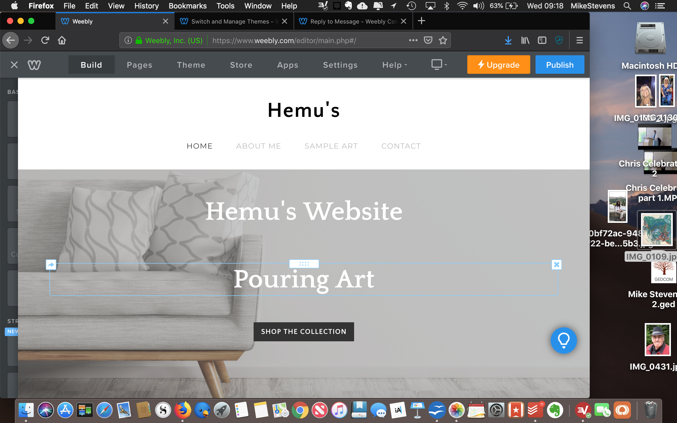 Solved Replacing A Theme Background Image Weebly Community