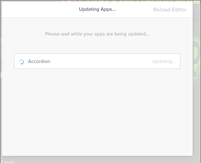 Updating Apps dialog is stuck - Weebly Community