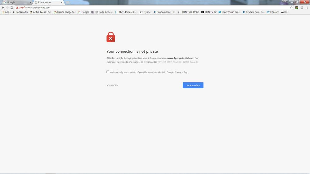 Solved Ssl Certificate Error Page 3 Weebly Community