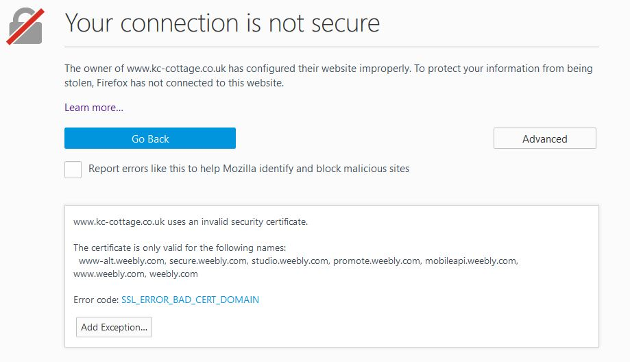 Urgent Ssl Certificate And Chrome Weebly Community