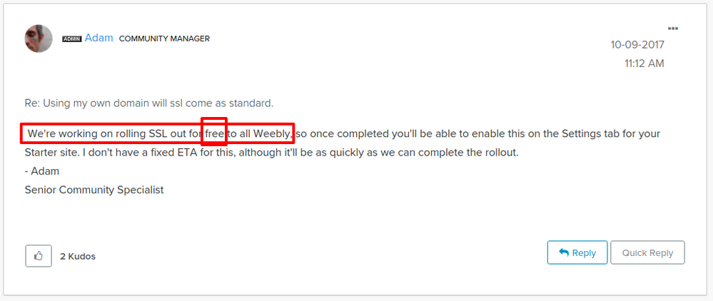 Using my own domain will ssl come as standard    Weebly Community (1).png