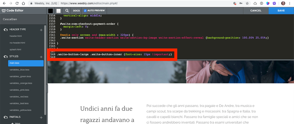 Solved: CSS not refreshing - Weebly Community