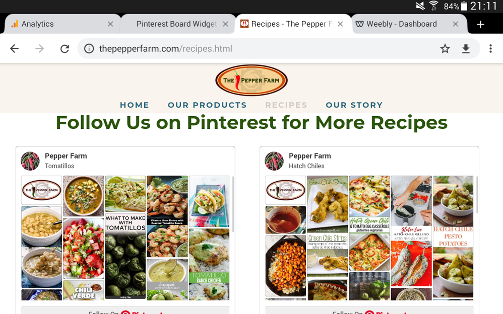Solved: Pinterest Board Widget Not Working - Weebly Community